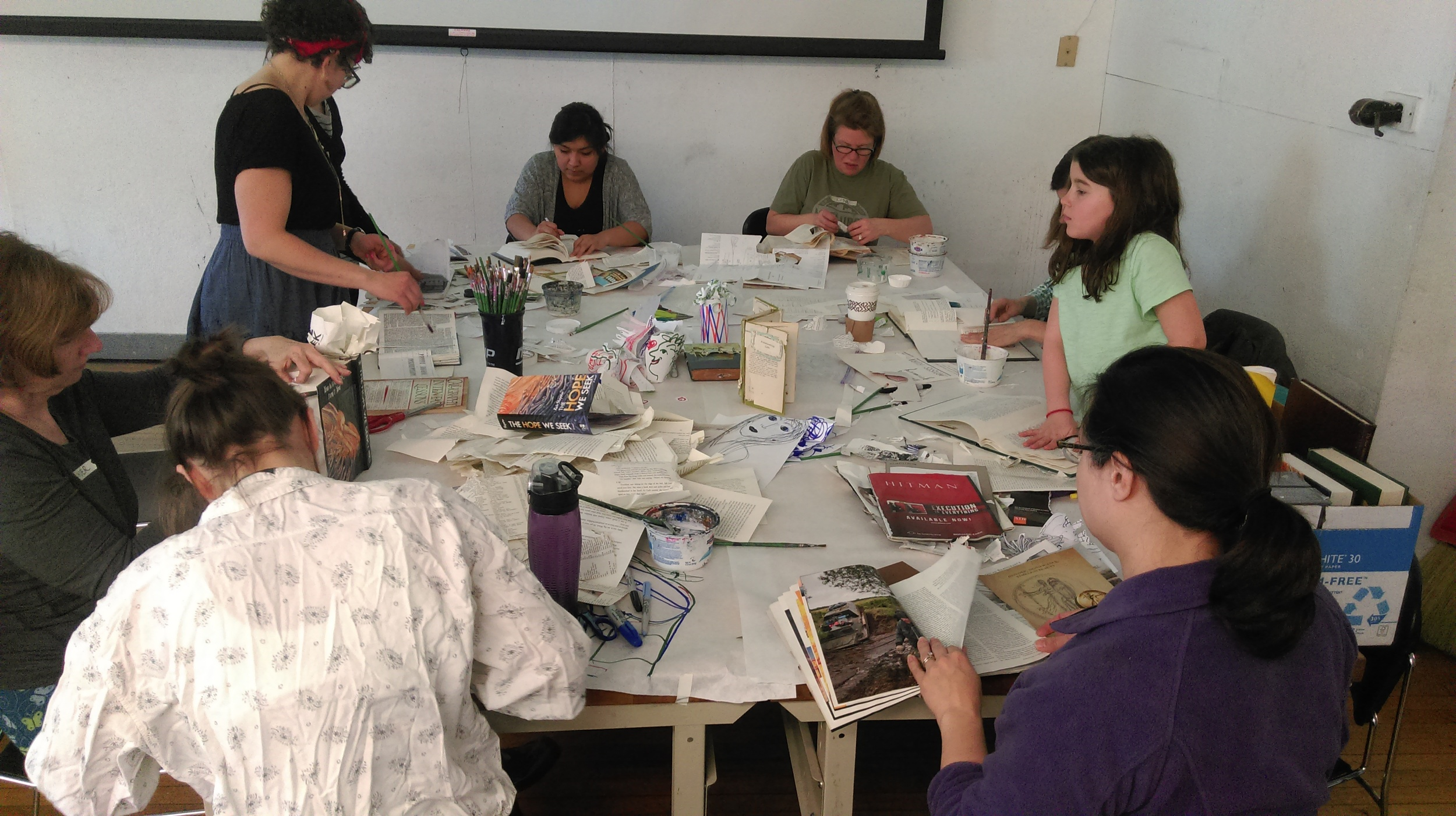 My students are hard at work making their own artist books.