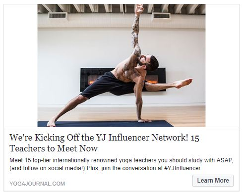 FEATURE ON YOGA JOURNAL ONLINE- Benjamin is first on the list of Yoga Journal's list of