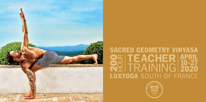 Sacred Geometry Vinyasa Yoga Teacher Training France April 2020 Benjamin Sears Yoga International Yoga Teacher
