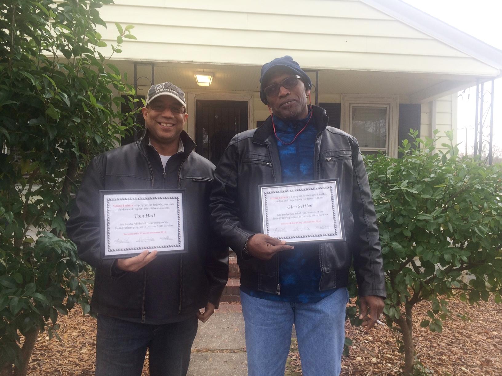 Two proud grads