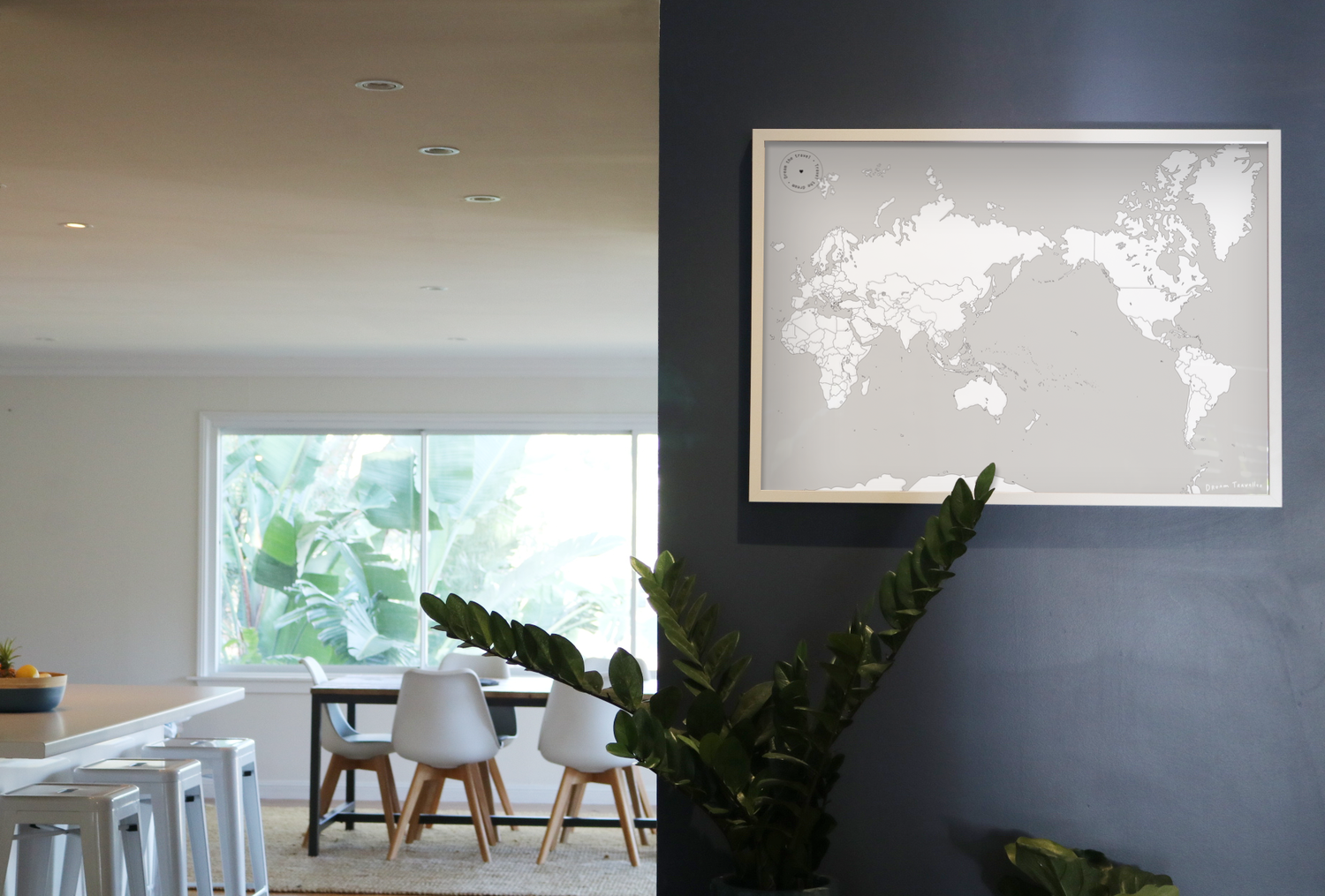 - MINIMALHave you always searched for a 'good looking' world map without all the cluttered info? Done. All you have to do is find a space on your wall and display the world to your minimalist- hearts-content. Simple is often the best.