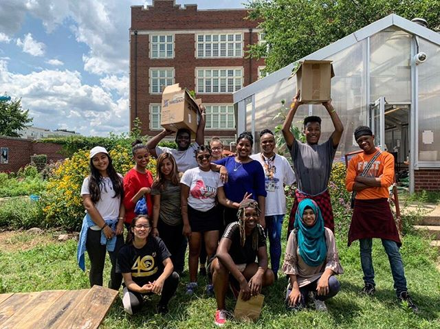 What a week this has been! Yesterday we had our bi-annual donation day with @sashabruceyouth. For the past 2.5 years we have made a huge donation of greens to @sashabruceyouth every summer and fall. Yesterday was no exception, we harvested 55 pounds of greens! We worked hard and had a community meal too (hope you 👀👀 it in our stories!). We are proud of the impact this school garden can have on our greater community and we love introducing other young people to what we do! Come find us at @petworthmarket tomorrow for our very last market of the summer from 9-1pm. #donation #giveback #youthled #goodfood #gogreen #dc #urbanagriculture #joy #proud #schoolgarden #harvest #eatyourveggies #farmersmarket #youngfarmers #teens #summertime #summerjob #getoutside #createexplore #cityblossoms #acreativedc #wearemightygreens