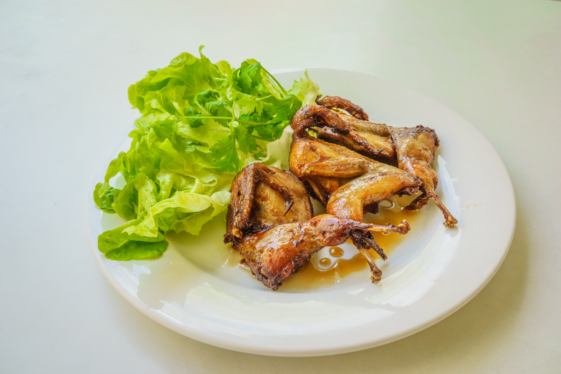 fried quails ~ chim cut