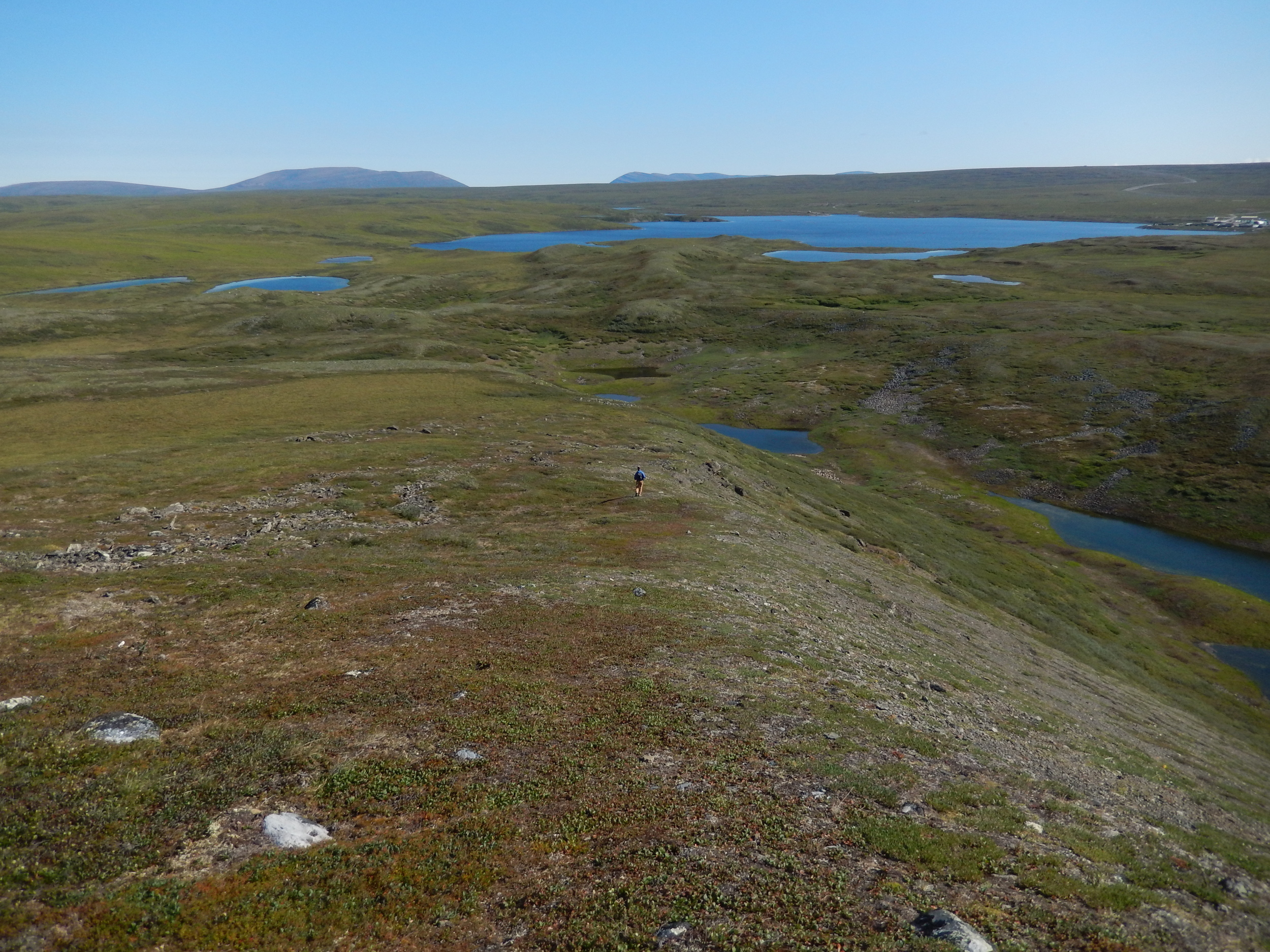 JADE MNT.  the little cluster of structure in the right hand corner is the Toolik Field Station, my home above the Arctic Circle for 3 weeks