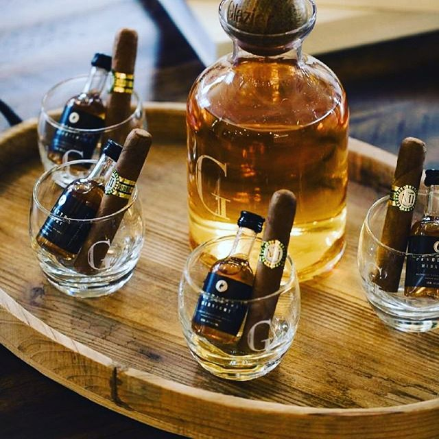 Throwing a party? Grab some cigars, your favorite minis, throw them in a collection of glasses and arrange them like so! Toast and cheers to friendships.  #partyfavors #cigars #cigarloungr #cigaraficionado #botl #sotl