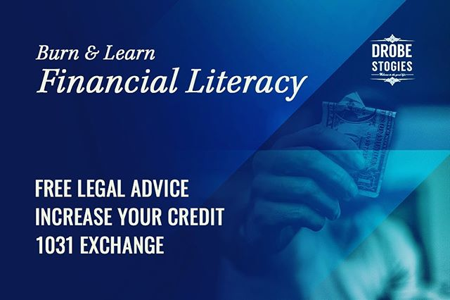 Come Tuesday, October 22 @7pm we'll have some HEAT at our monthly Financial Literacy Burn & Learn Series.  #BOTL Chris Kastigar from Credit First will discuss the many tricks and restoration programs to improving your credit.  Attorney Justin Sanders, from Sanders and Roberts, LLP, will provide free legal consultations on topics ranging from starting a business, trusts and other legal matters. Bring your questions! Charles Jensen from Inland Securities will discuss available 1031 exchange benefit options. Don't know what 1031 is? Come thru!