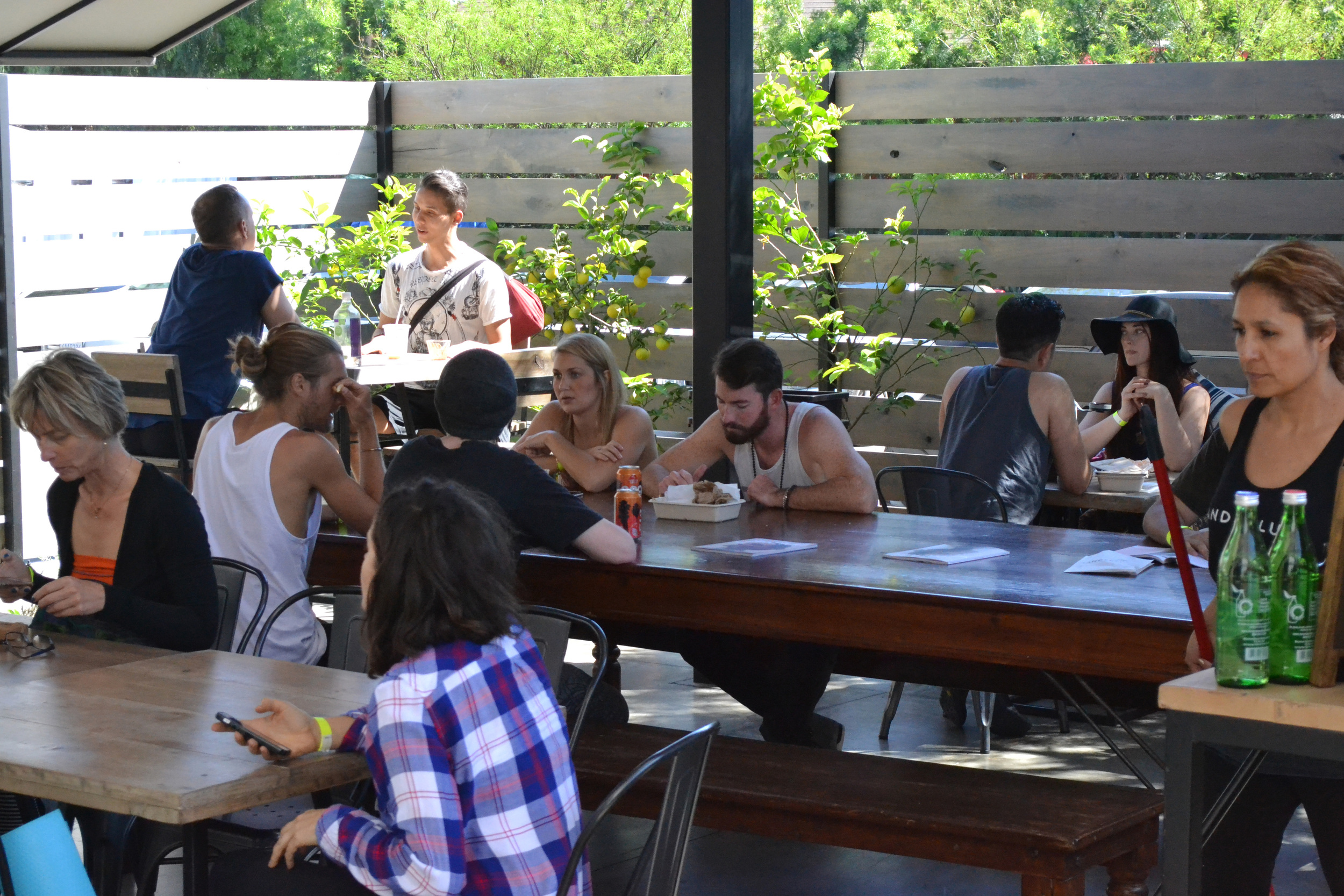 Food was less a focus at Wanderlust than last year at the Springs, but the outdoor dining area was a nice quiet area to escape the bustling interior spaces.