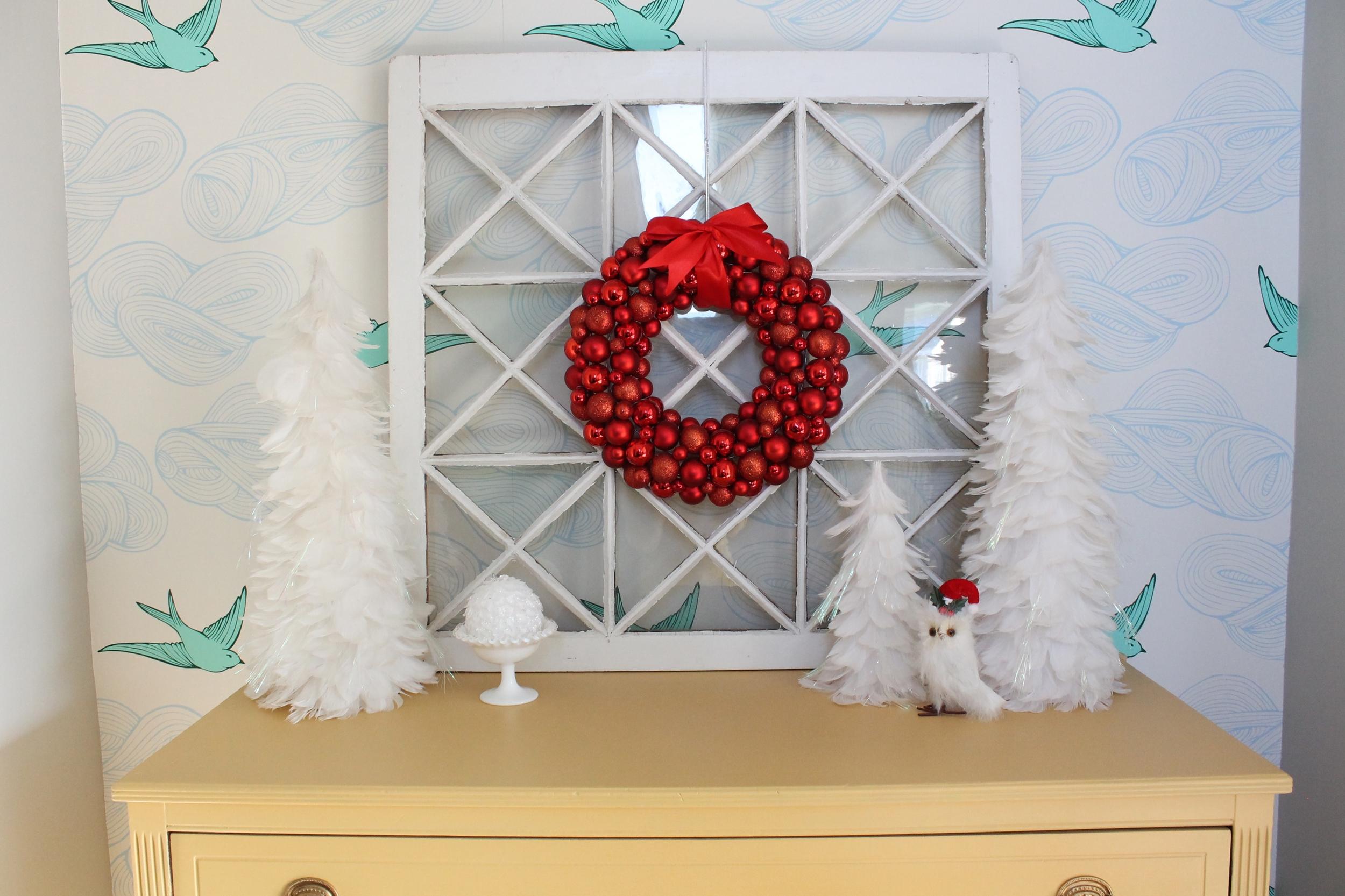 Christmas Wallpapered Nook