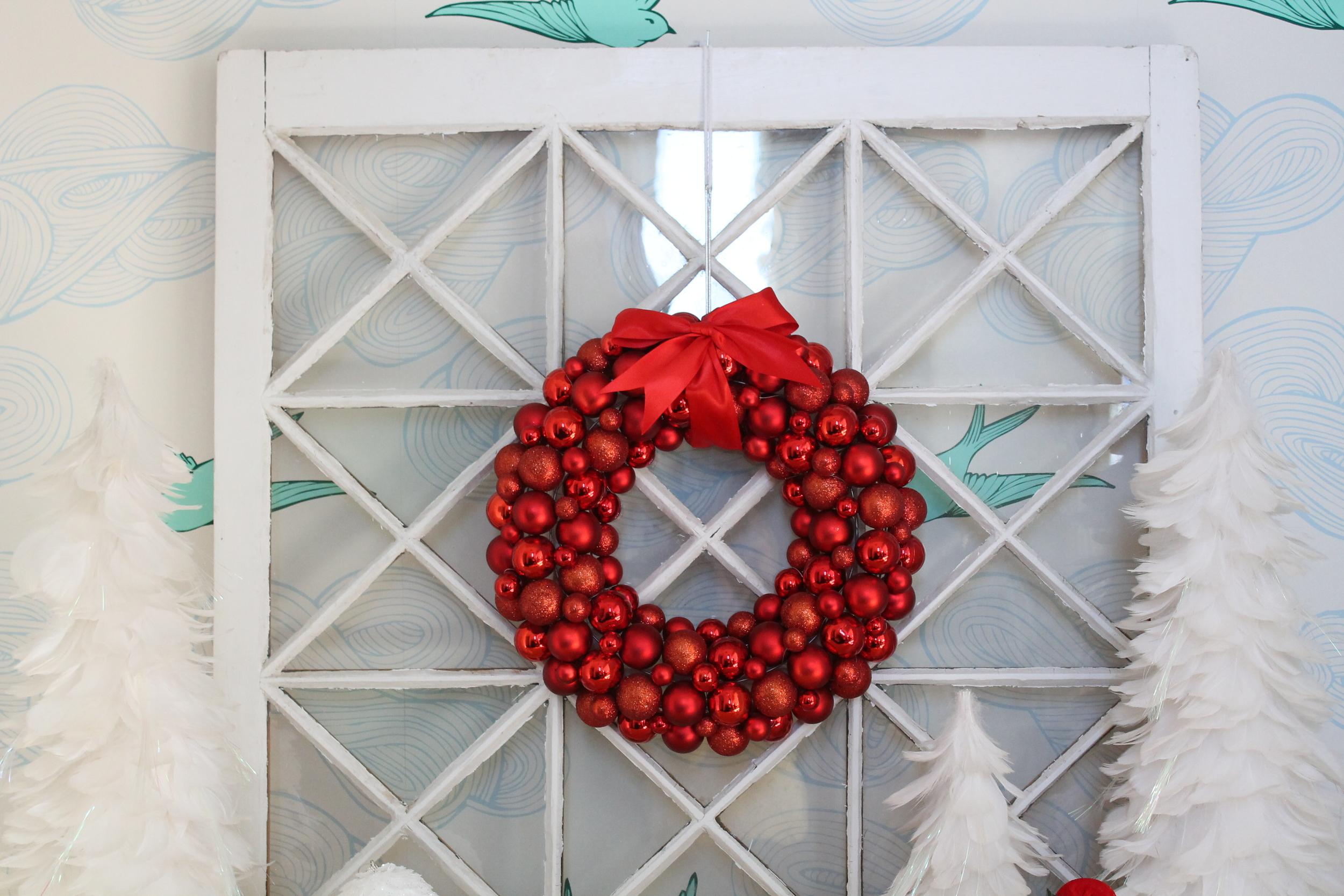Christmas Wreath and Window