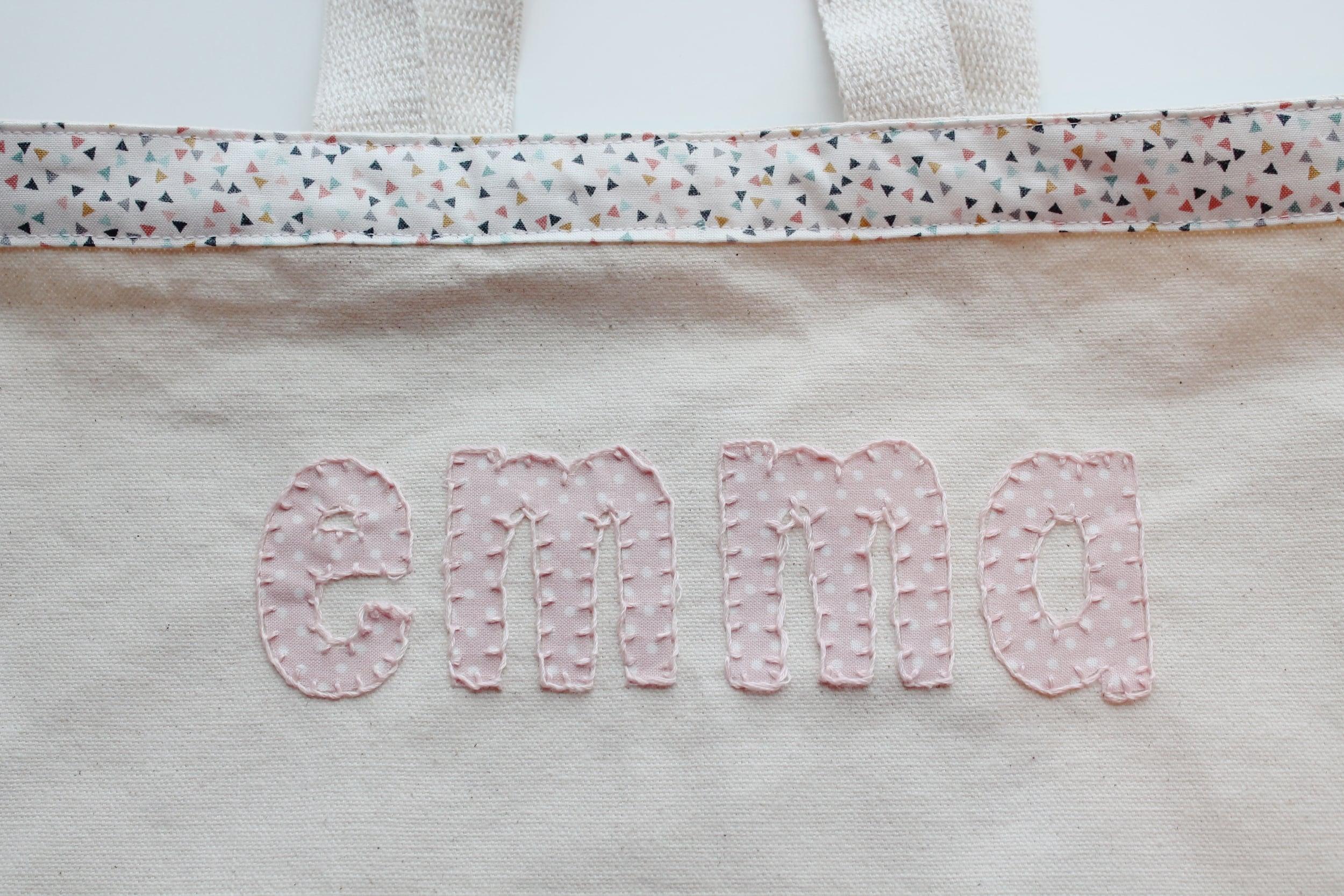 blanket stitch around applique letters