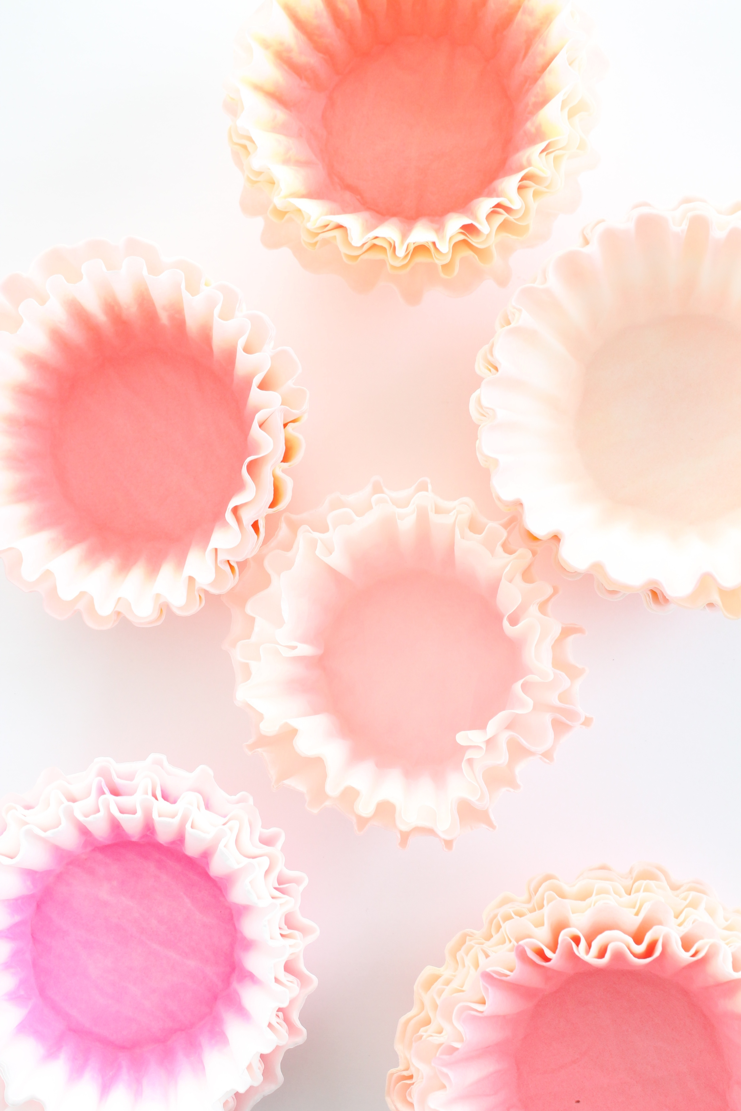 Dying coffee filters. They make the most beautiful little flowers for a garden tea party.