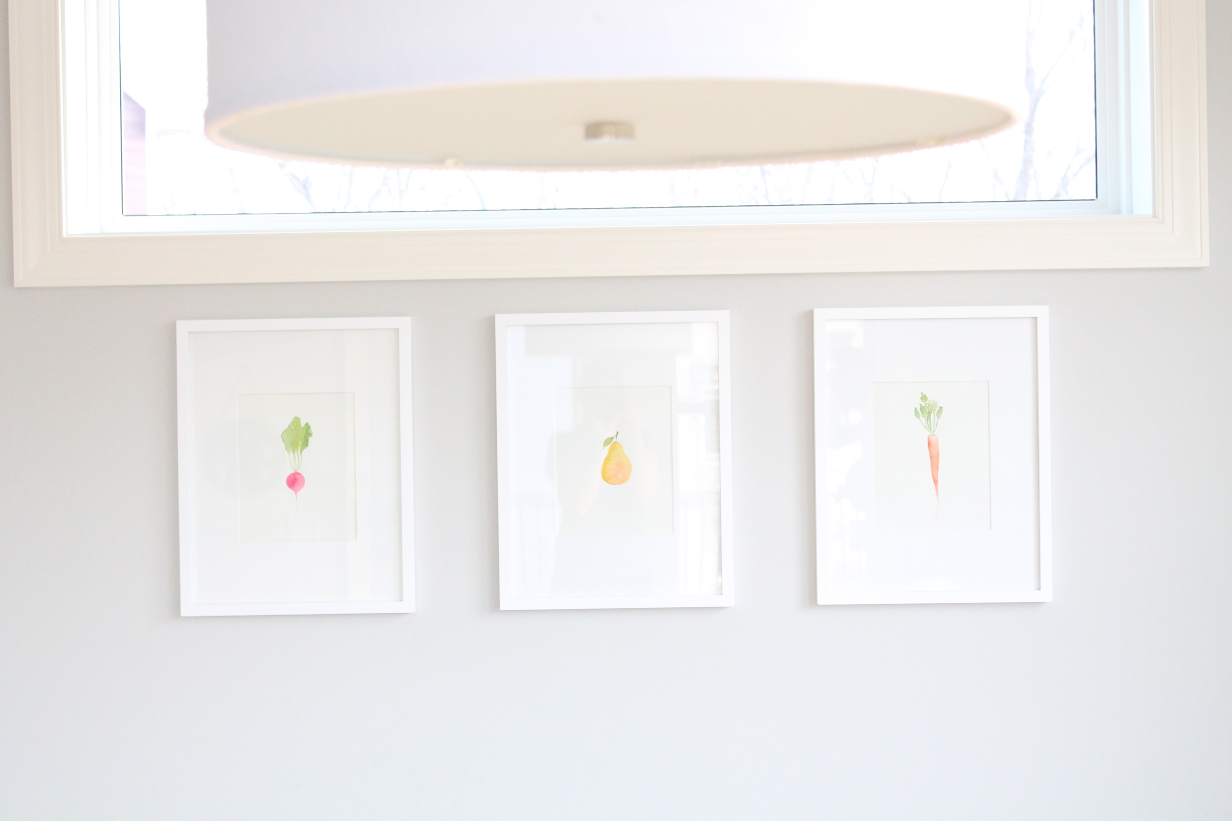 DIY art for the Kitchen. Water color vegetables.