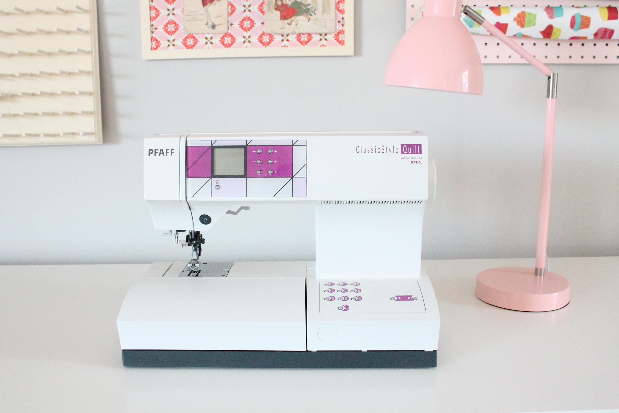 Pfaff sewing machine in Tessie Fay's family craft studio.