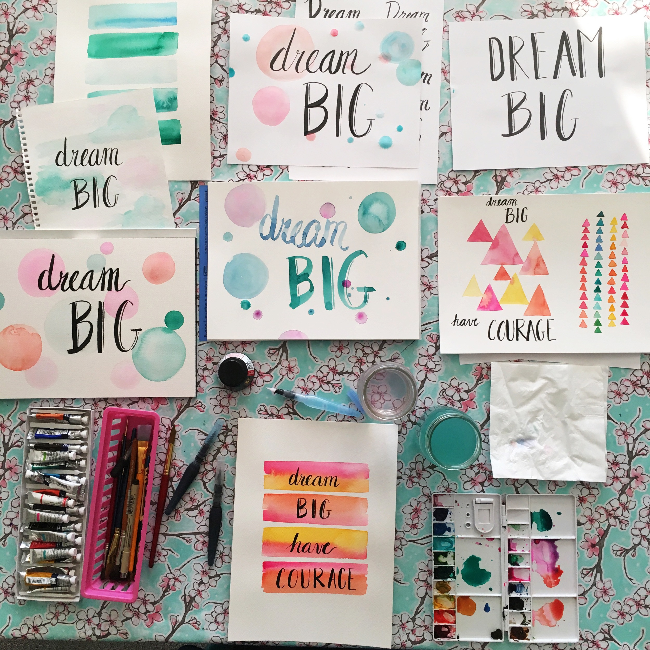 Dream Big Water Colors by Tessie Fay