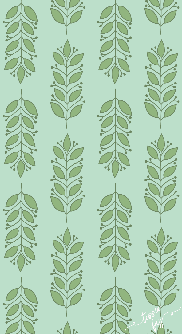 Green Leaves Wrapping Paper