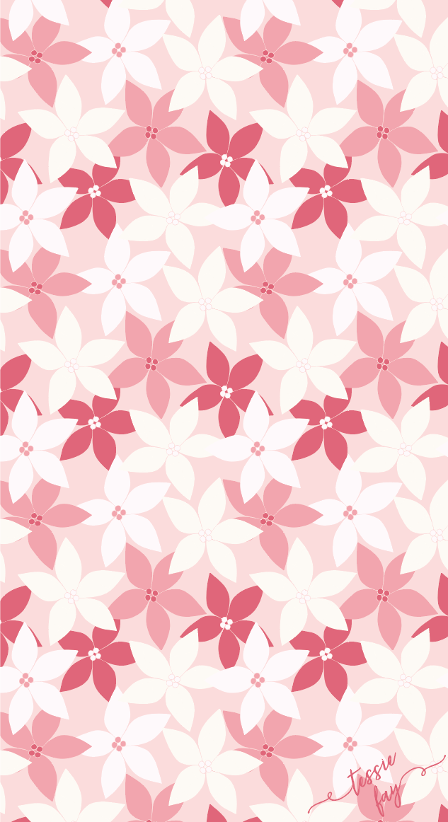 Pink Poinsettia Wrapping Paper