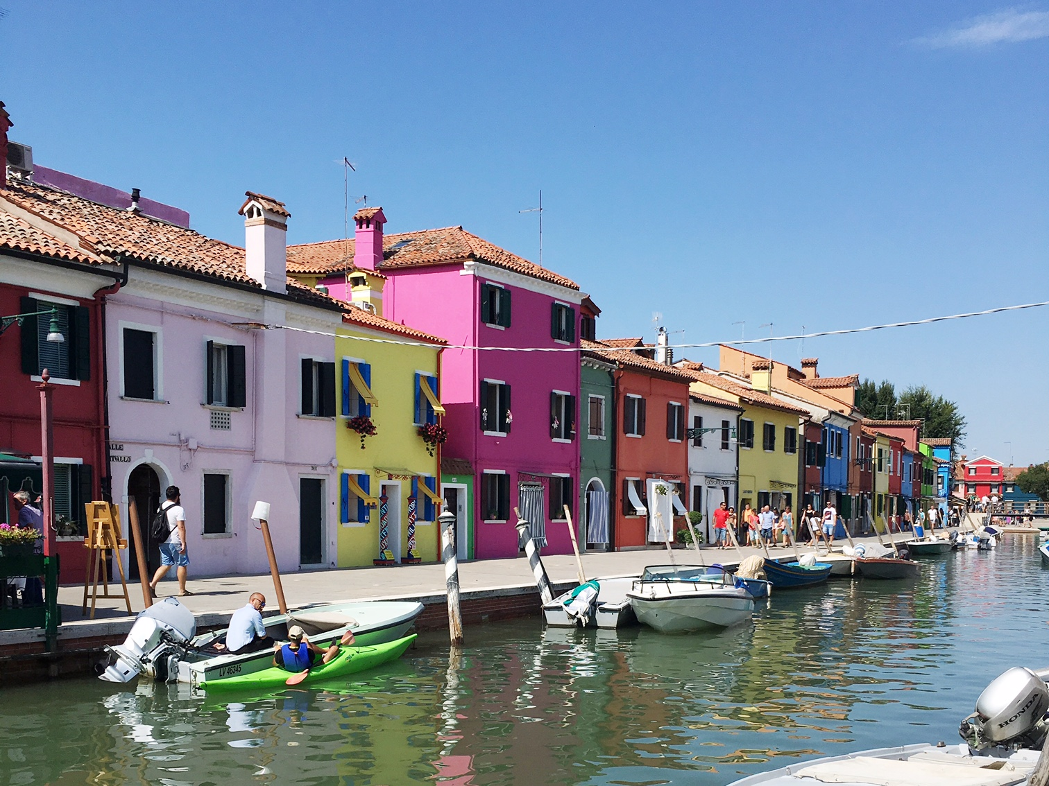 The colorful houses of Burano Italy
