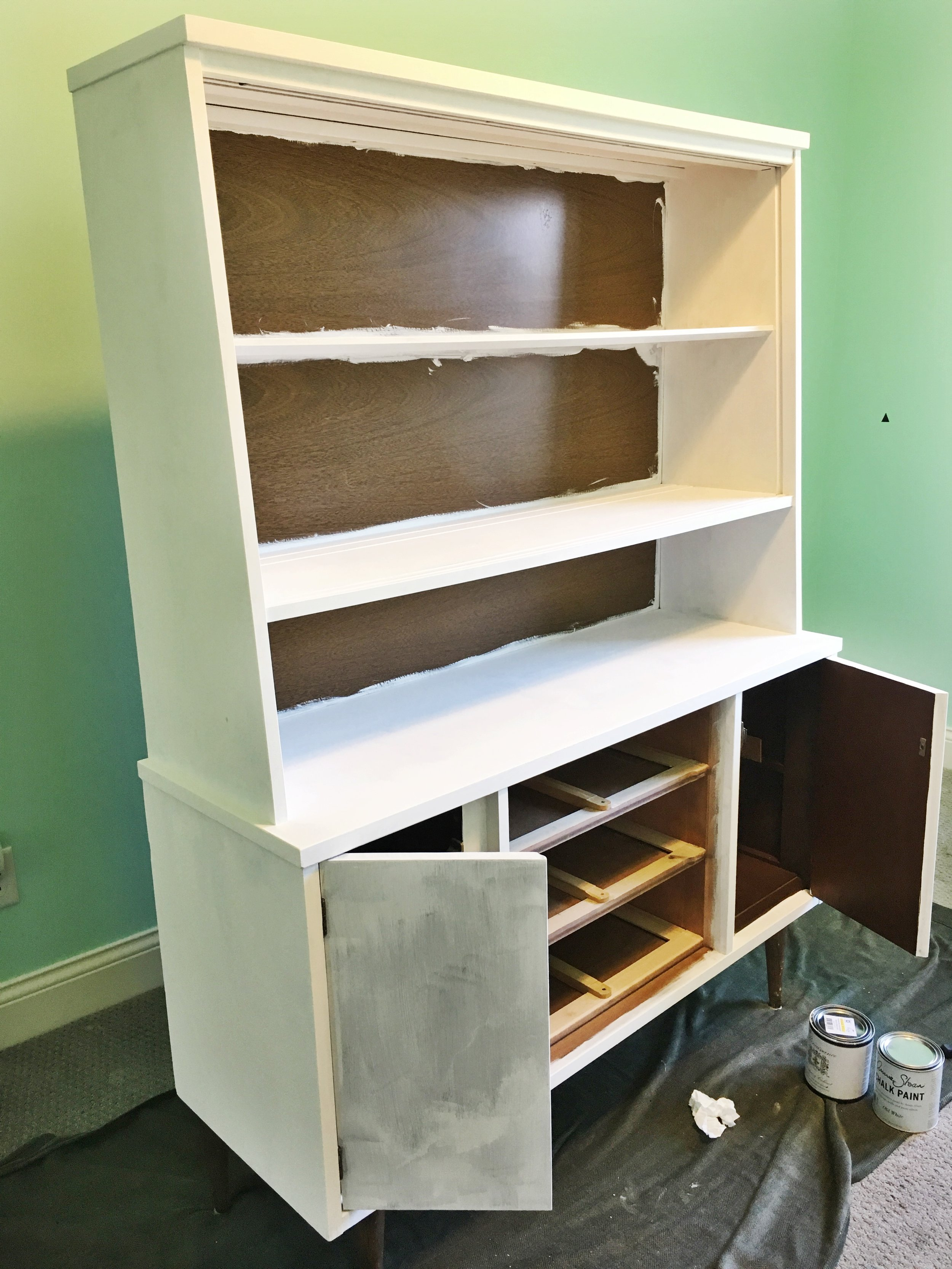 painting a mid century hutch
