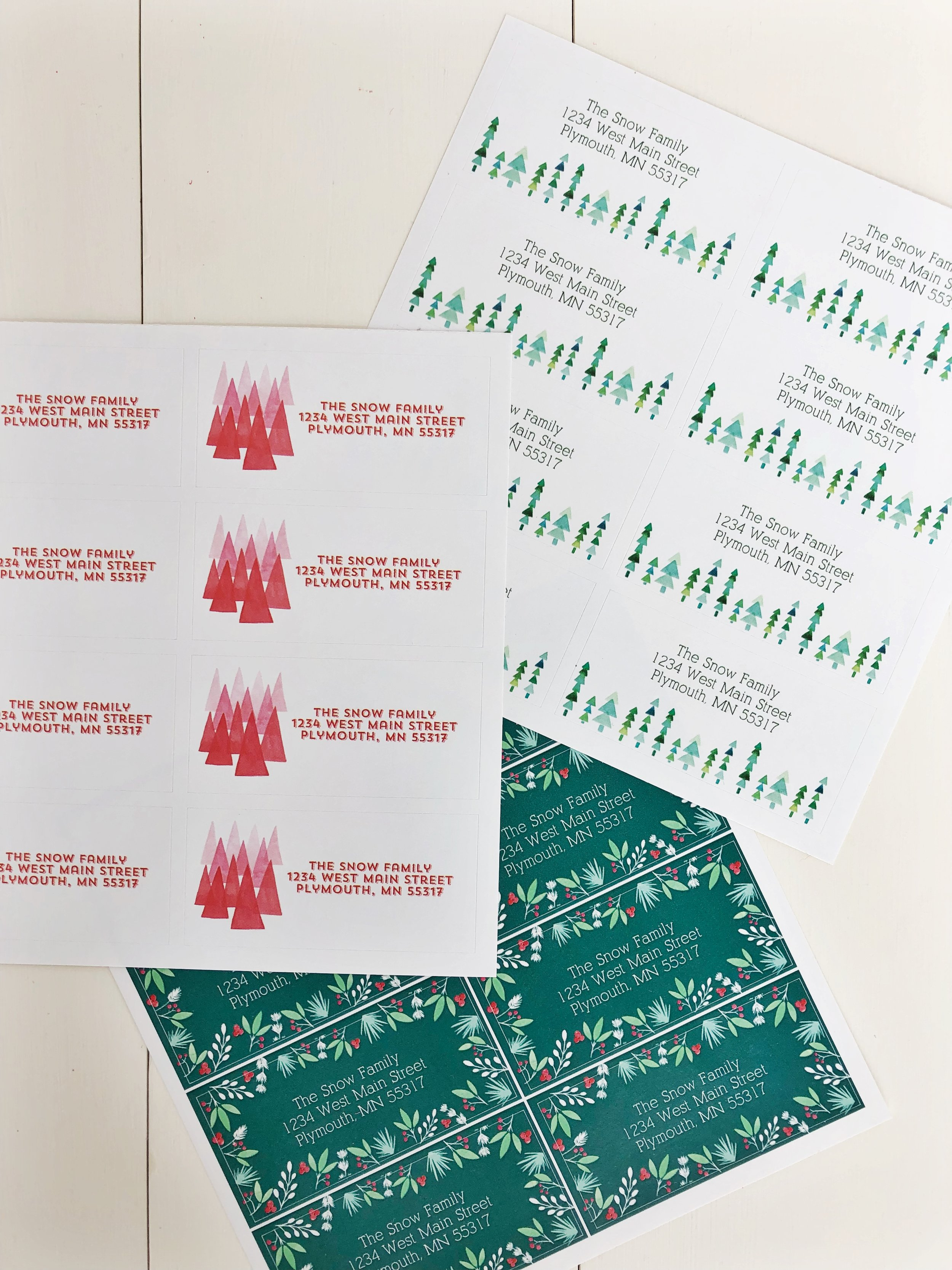 Custom Holiday Card Labels by Mixbook. Designed by Tessie Fay.