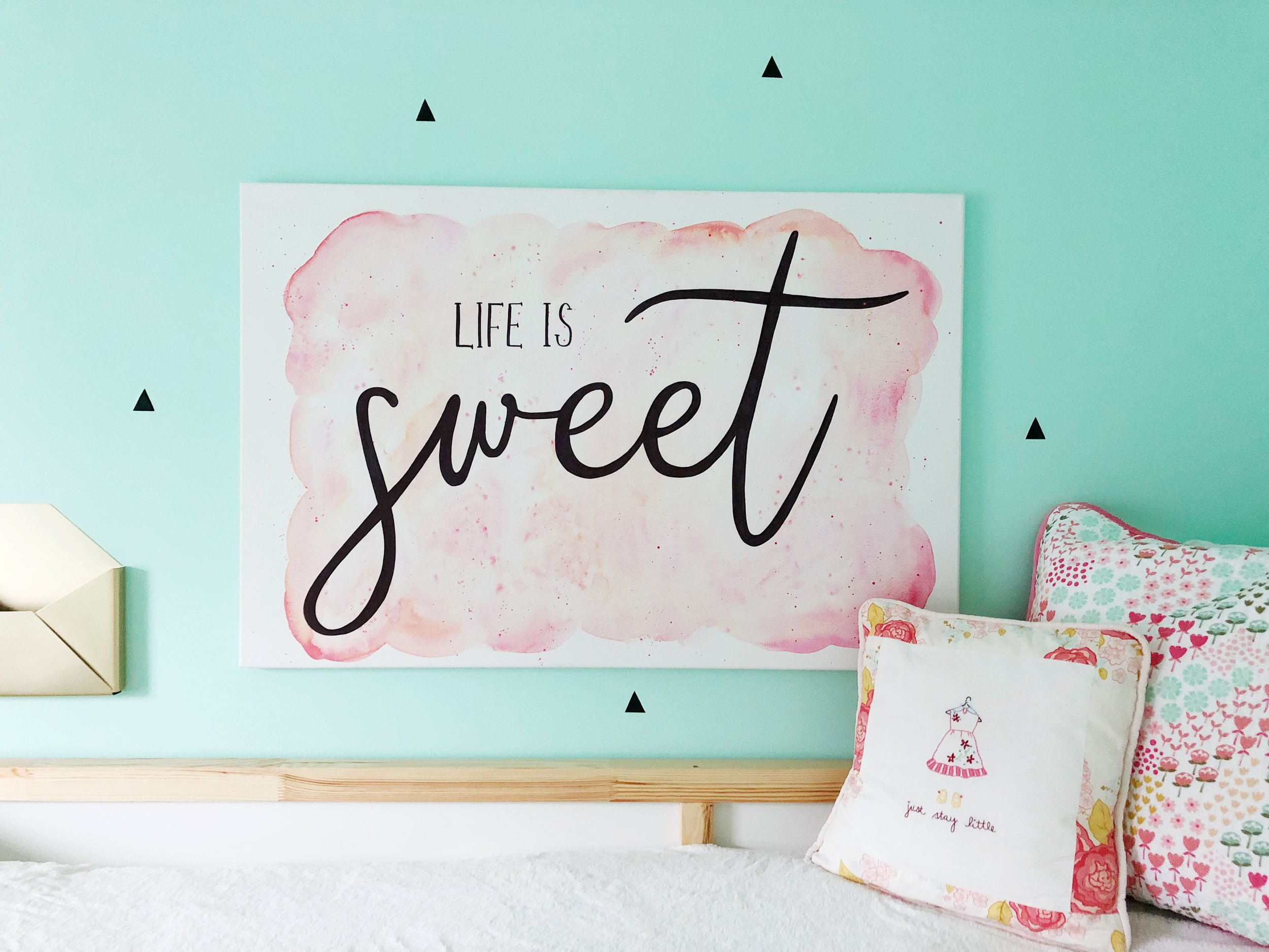 Life is Sweet Water Color Canvas
