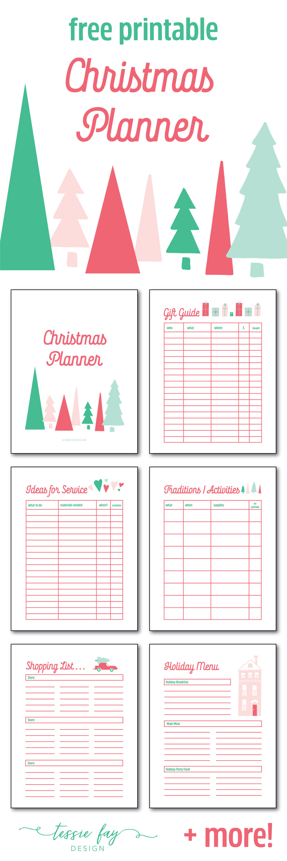 Christmas Planner Free Printable Tessie Fay