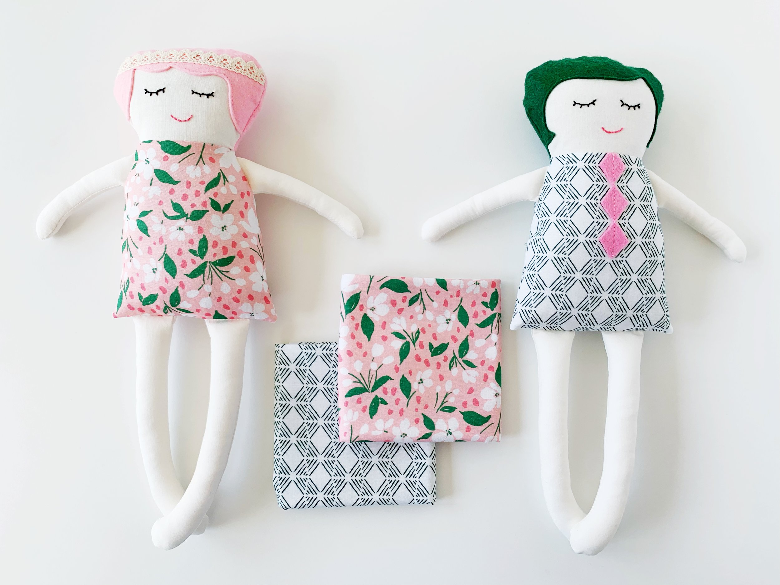Pink Lemonade Doll Tutorial and free template with Tessie Fay