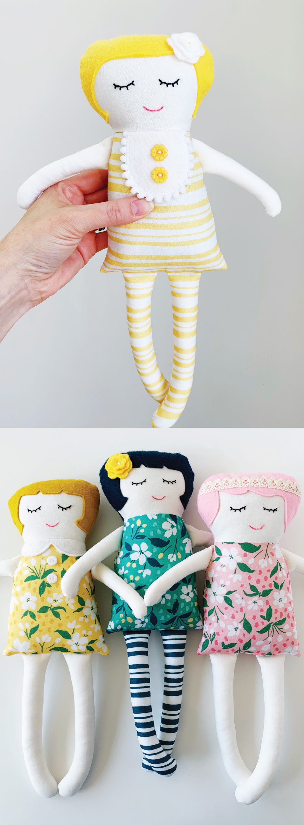 Free Doll Template and Tutorial! Inspired by the Black Apple Dolls .
