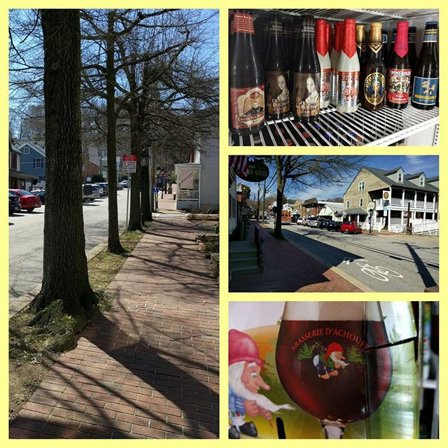 AMAZING weather today in #occoquan warm breeze on the #patio and a sour ale in hand!