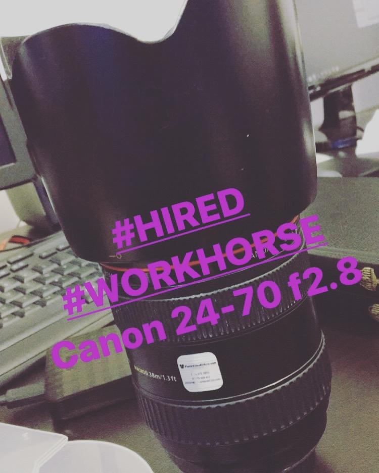Hire Canon 24-70 f2.8 Lens