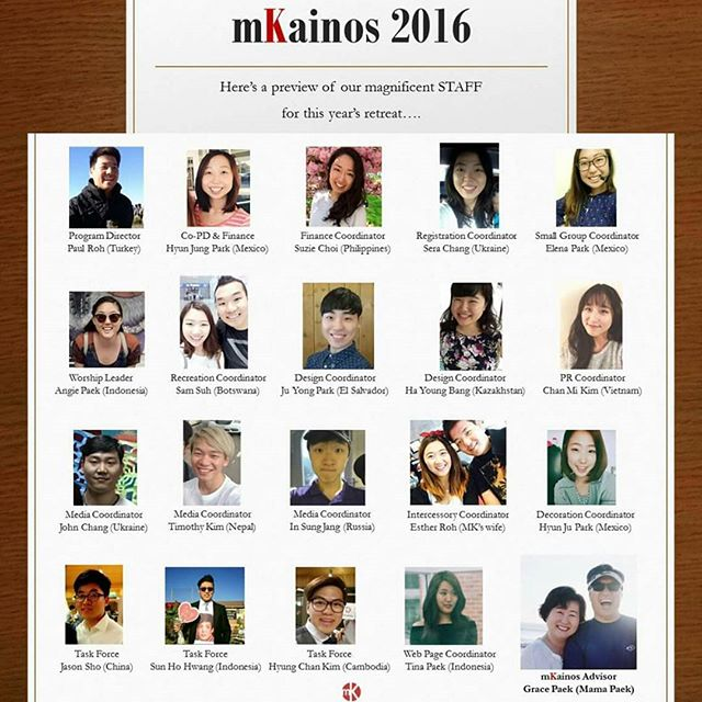 Hello MKs!  Here's our staff members for this year's retreat! Please pray for them and for the retreat ! Thank you!! ------------------------------------------------------------------------------------------- #mKainos #mkainosneverends #mkainoshomecoming #mkainosstaff #prayforus #pray