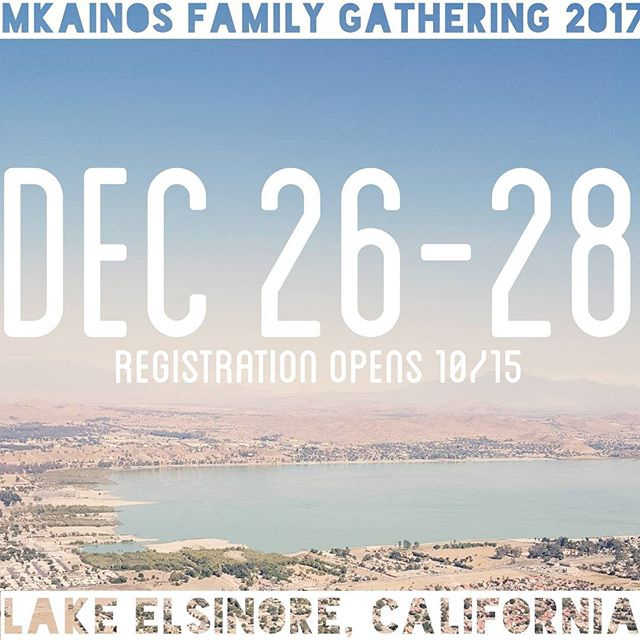 We are excited to share with you that we will soon be opening up registration for mKainos Family Gathering 2017 on Sunday 10/15!  Due to limited space, registration is first come (& pay) first serve. Note: there will be no housing and no transportation provided.  Please know that this is not a retreat but a fellowship gathering for MKs as we seek to continue to grow as a community and family in Christ. Stay tuned for more updates!