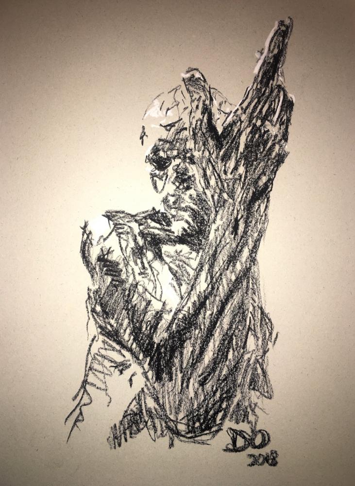 """""""Pierre de Wissant in Rodin's 'Les Bourgeois de Calais' at the British Museum"""" (2018)"""