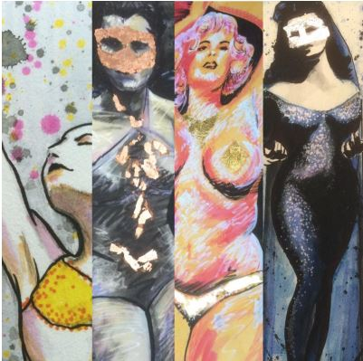 Montage of Burlesque Prints
