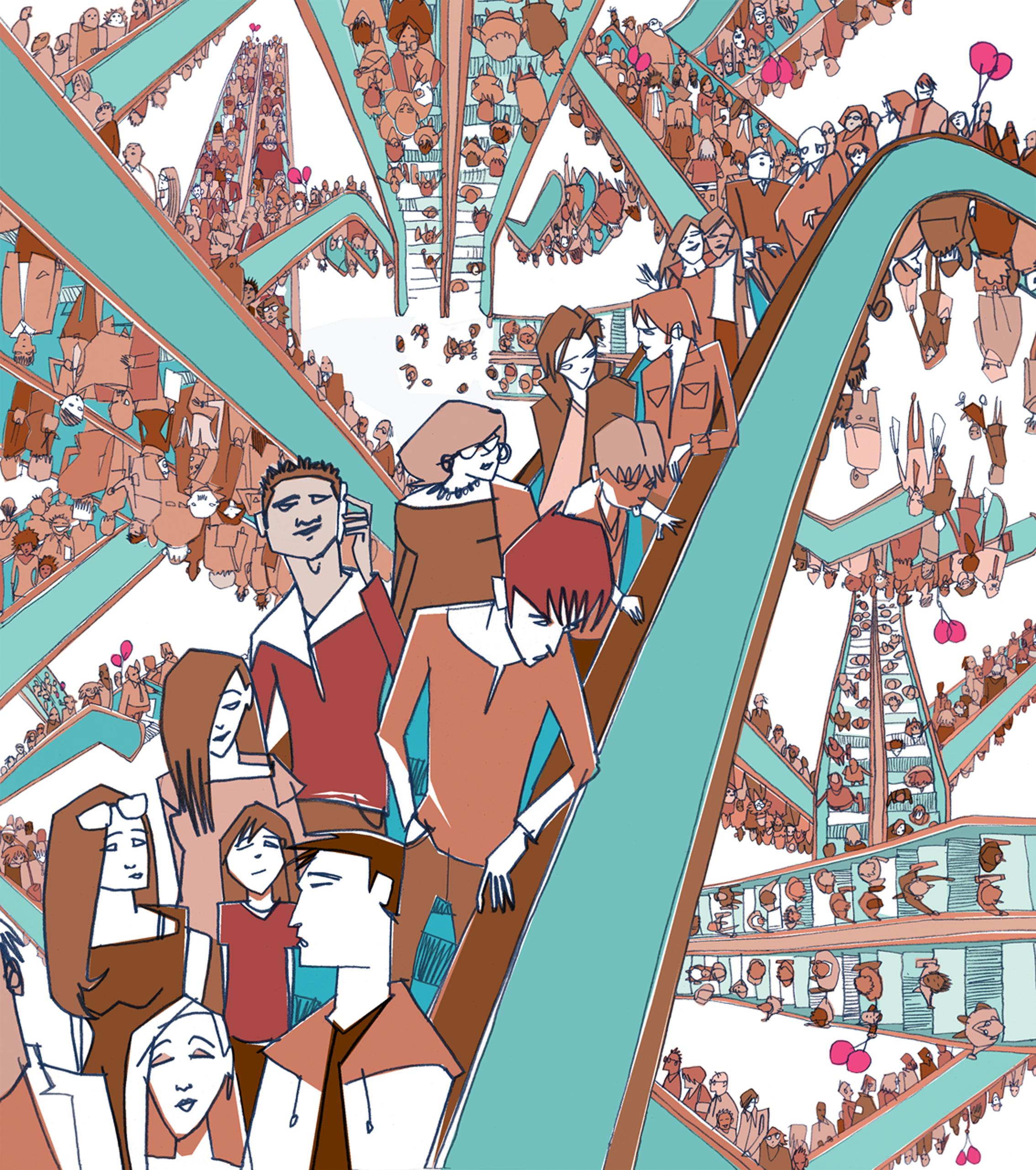 Elevators people crowds teens Dylan Gibson.jpg