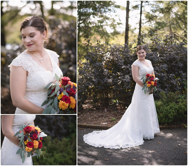 Minnesota Landscape Arboretum October Wedding Bridal Portrait