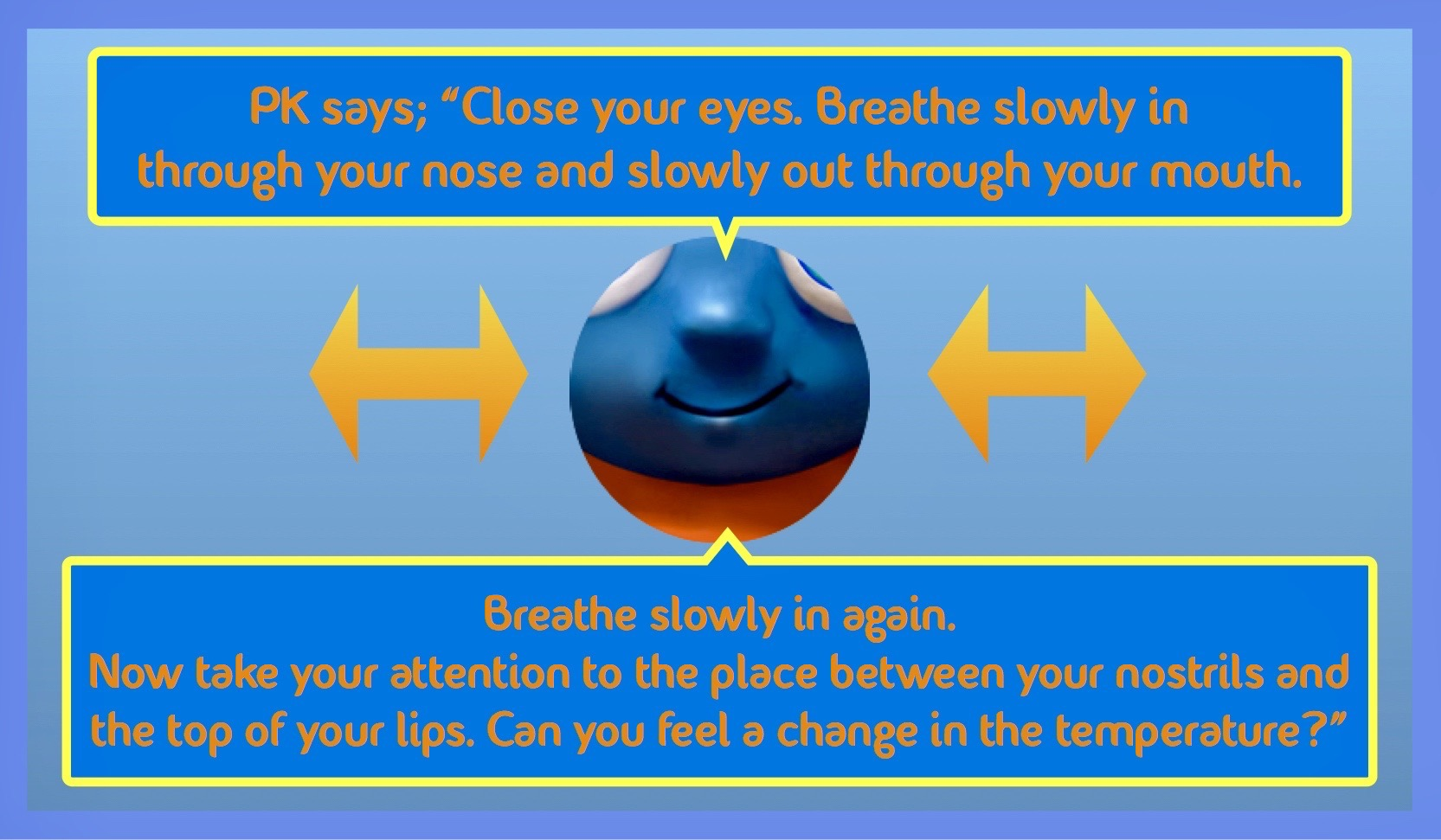 Your nose and the top of your lip