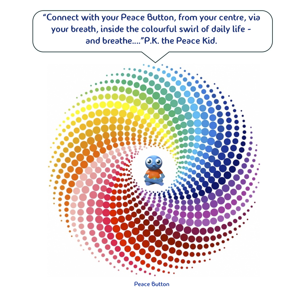 Colourful swirl of life