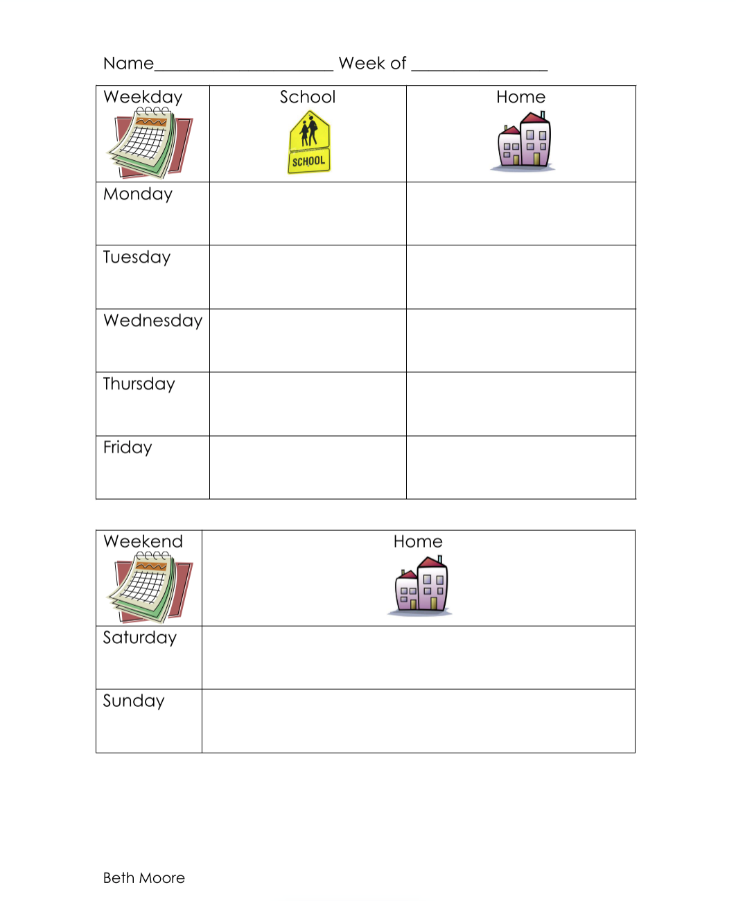 Book Log for Emergent and Beginning Readers - This book log provides space for young children to tally up the books they've read, giving them a sense of how much reading they've done. At the end of the week, kids are able to see a physical record of the work they've done, and can be proud of all they accomplished.