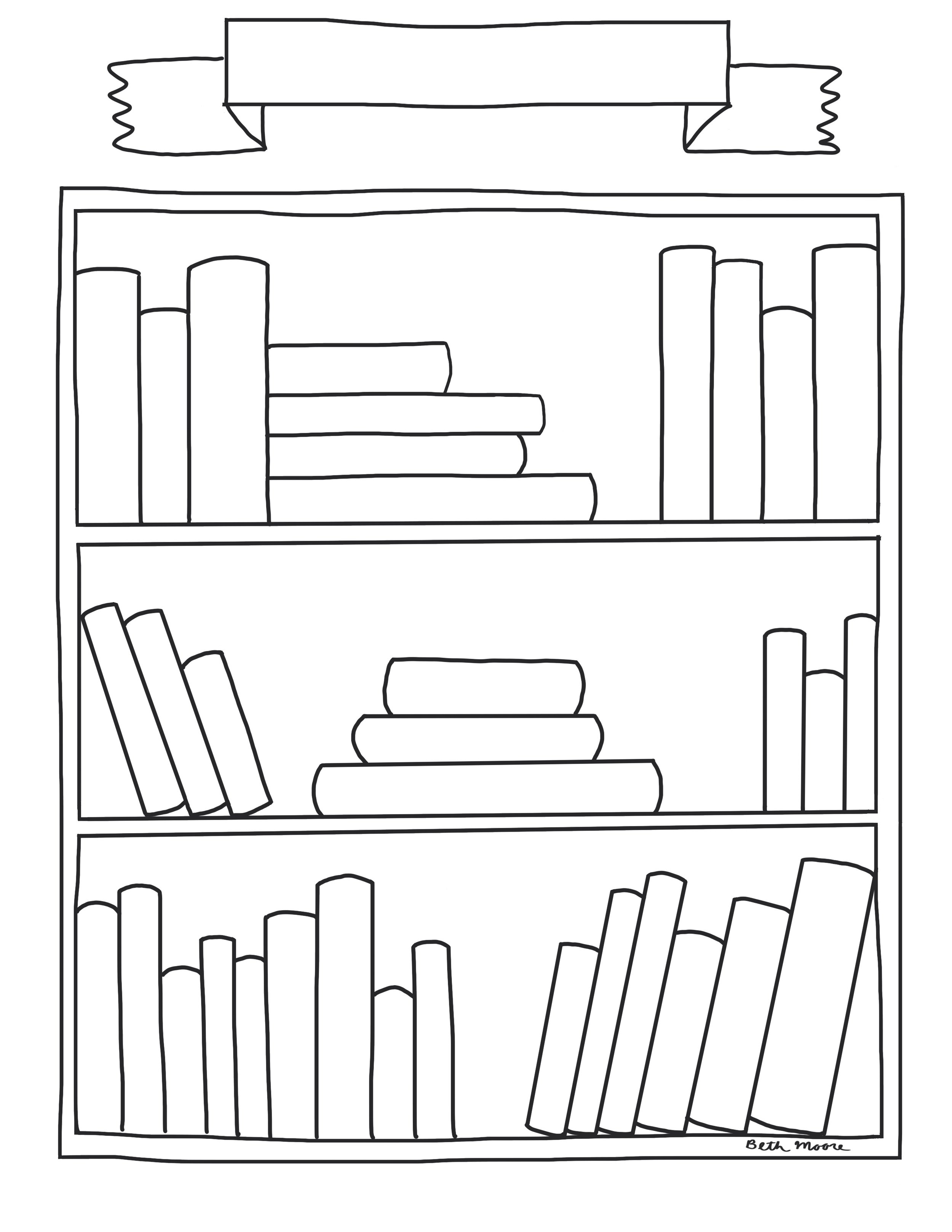 Blank Bookshelf Template - Use this template for any kind of book list—Favorite Books, Book Recommendations, Mentor Texts for Writing, and Favorite Read-Alouds…