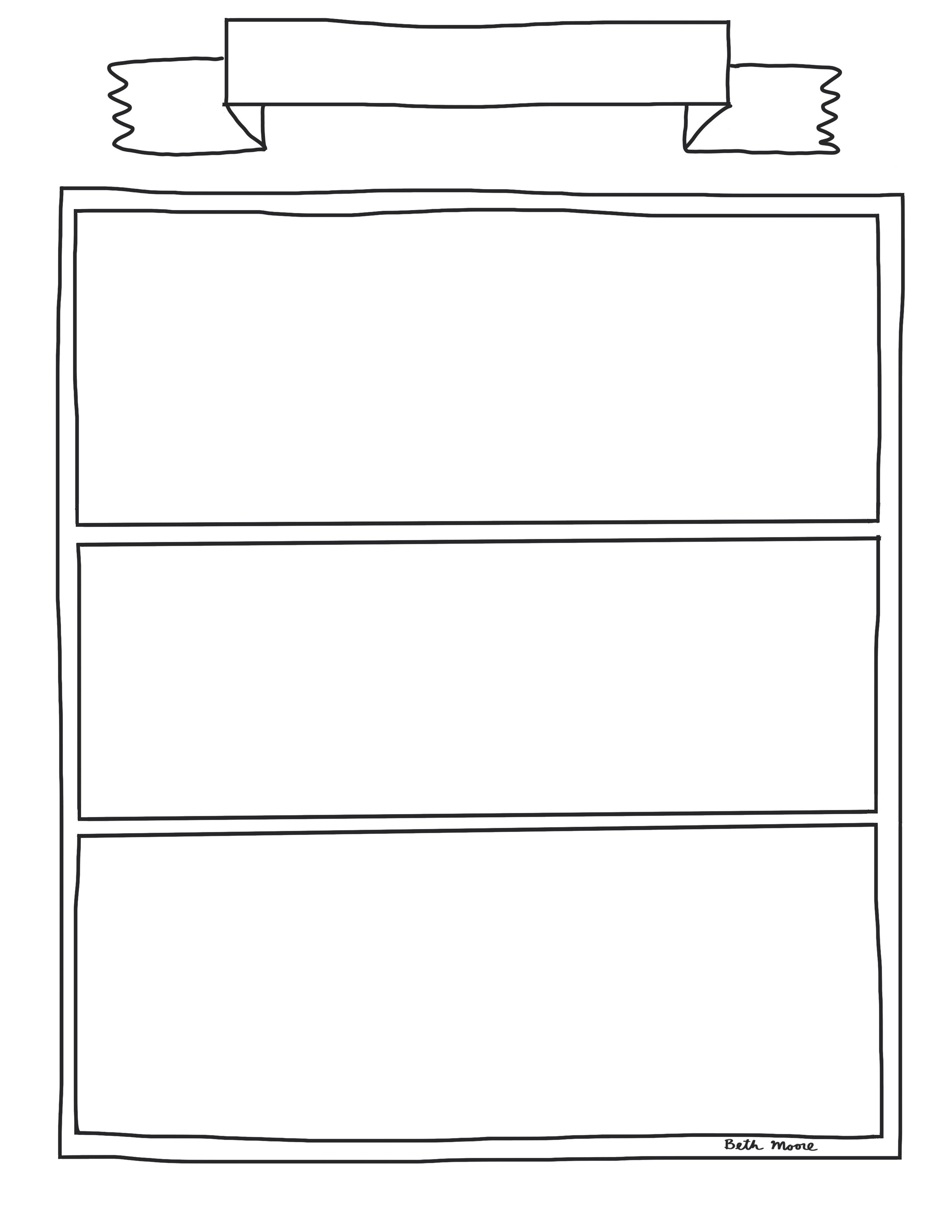 Totally Blank Shelf - This template is blank to allow you or students to draw your own book spines (helpful in case the books in the other templates are too small for your readers and writers to fit their titles).