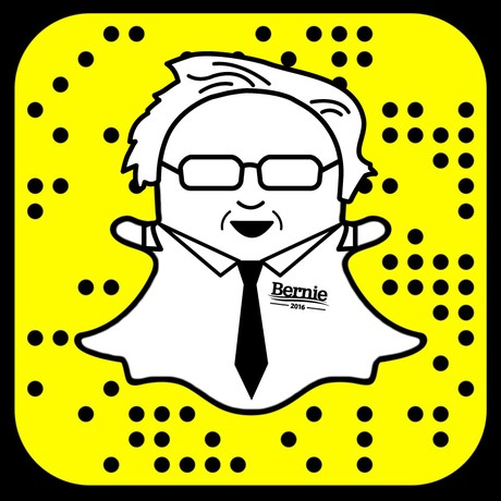 Open SnapChat and point the camera at the QR code above to follow