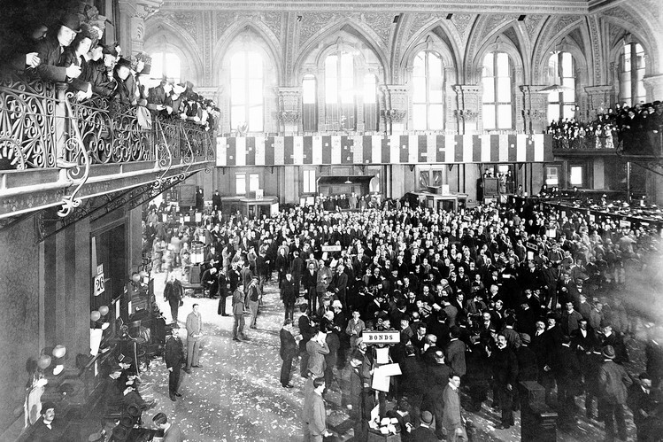 Vintage photo of the New York Stock Exchange
