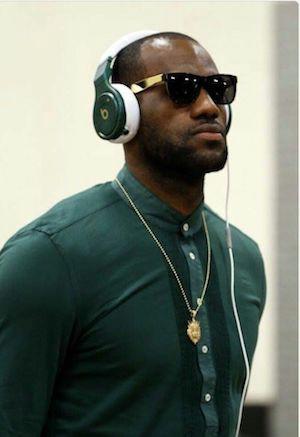 LeBron James Wears  Beats by Dre