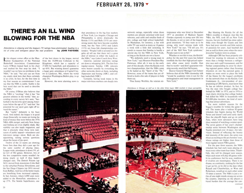 Sports Illustrated , 1979