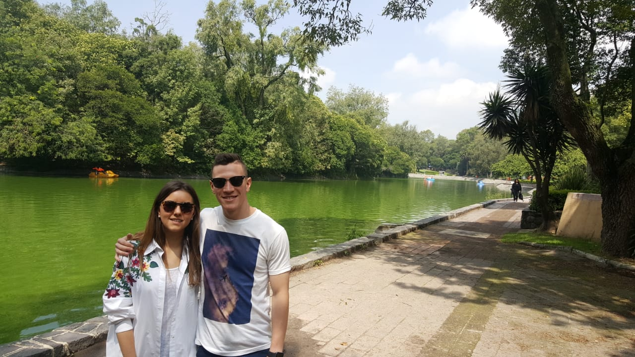 Loures and myself at Chapultepec Park