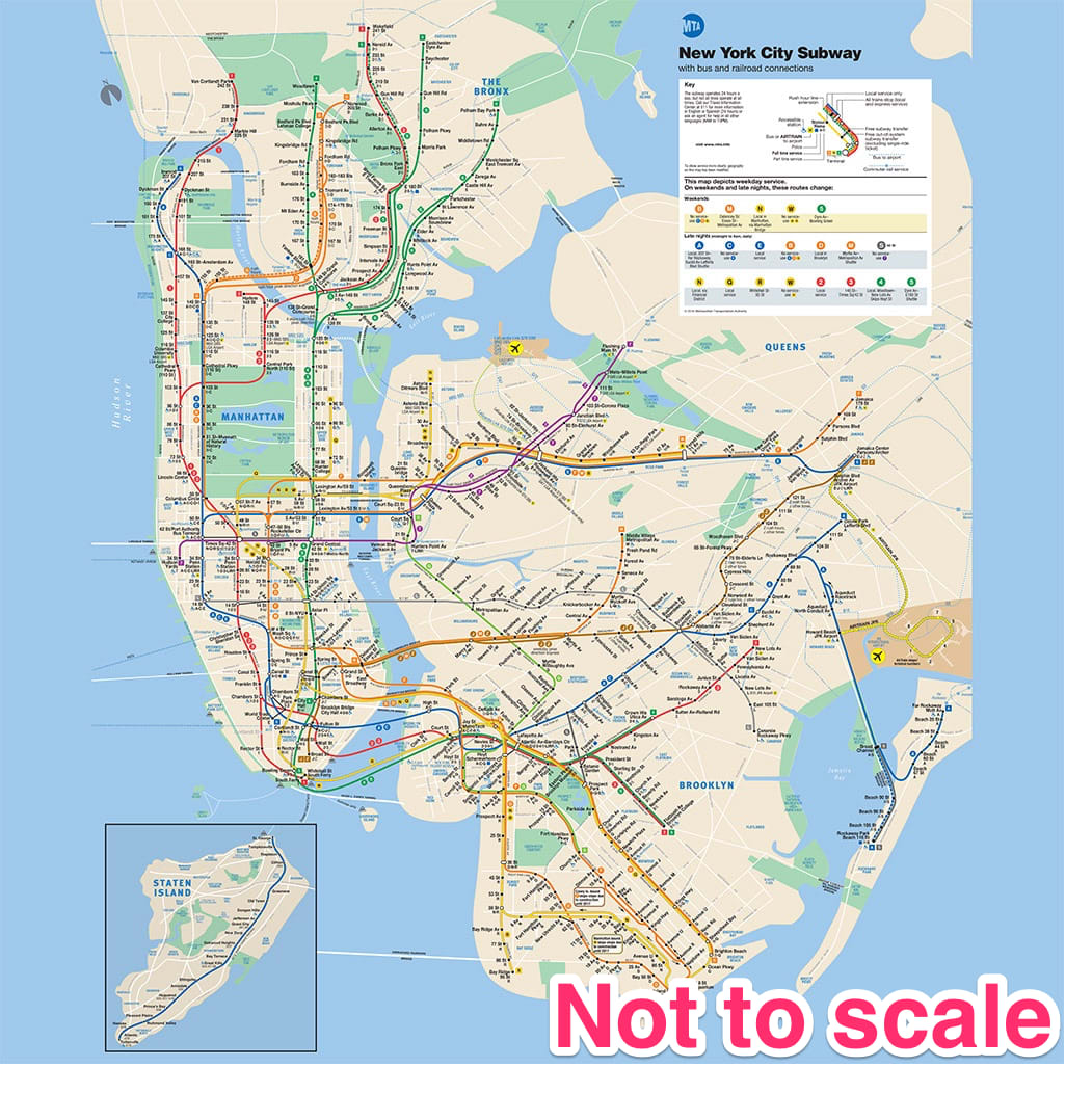 Not-to-scale New York Subway Map