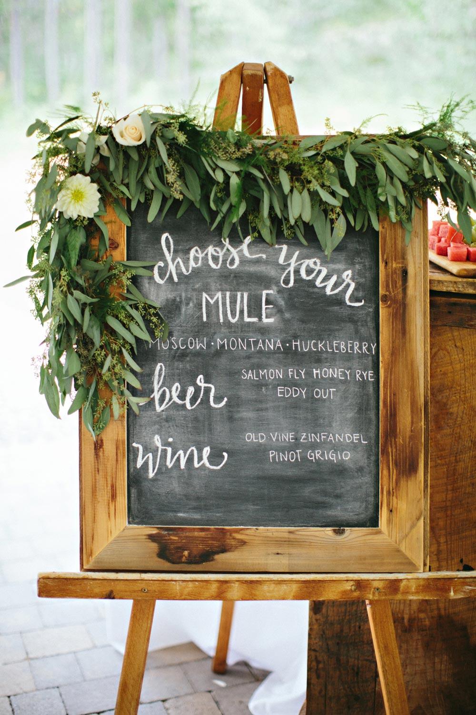 Wedding calligraphy in Montana