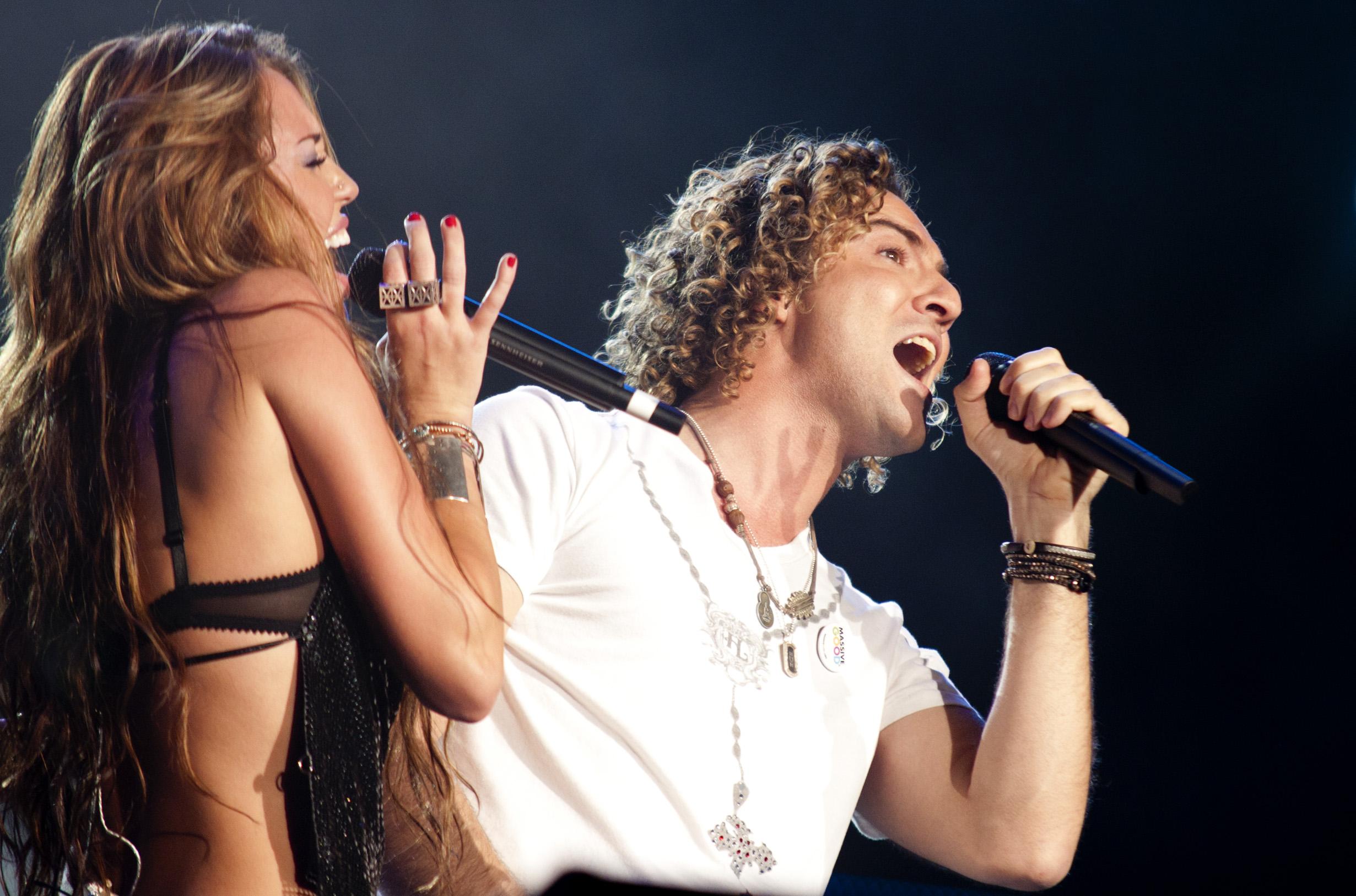 Miley Cyrus y David Bisbal