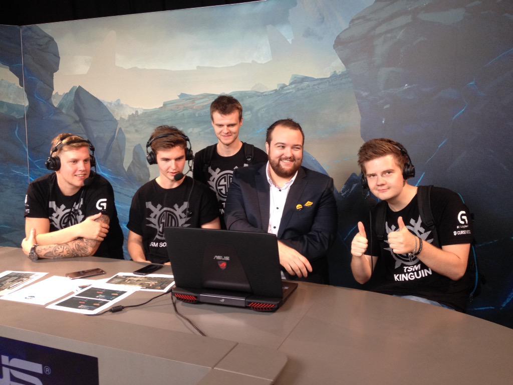 TSM: cajunb, device, Xyp9x și dupreeh alături de Anders, unul din comentatorii de la DH Cluj
