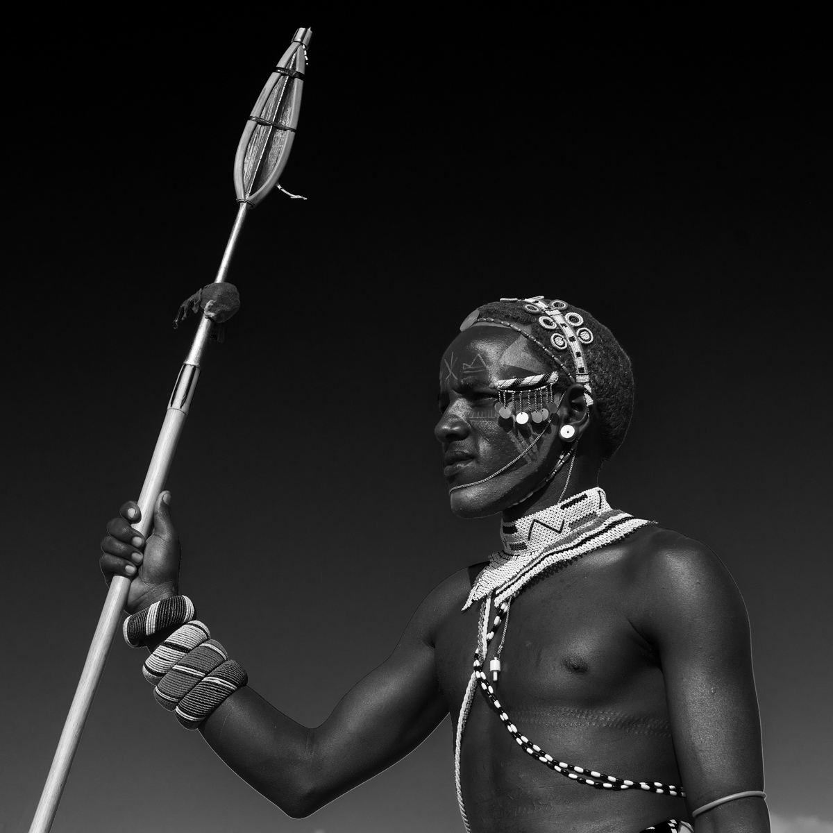 #3. Warrior standing guard. 80x80cm